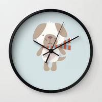 best friend Wall Clocks featuring Best Friend by P.NOO INDUSTRIES