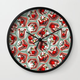 Free Hugs clowns Wall Clock