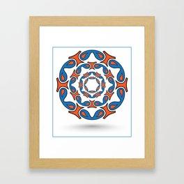 abstract mandala tribal Framed Art Print