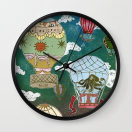 Hot Air Balloons I Wall Clock