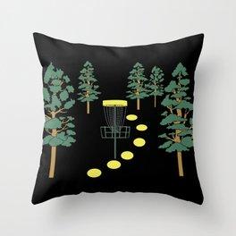 Disc Golf Stupid Trees Woods Men Women Court Gift Throw Pillow
