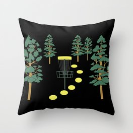 Disc Golf Stupid Trees Woods Men Women Court Gift Throw Pillow