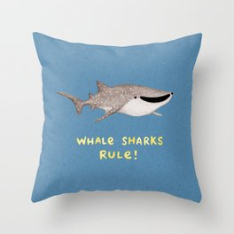 Whale Sharks Rule! Throw Pillow