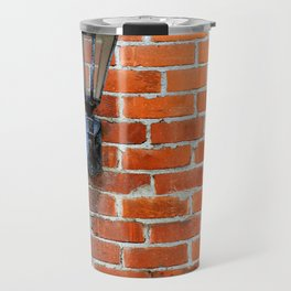 Brick Wall Light Travel Mug