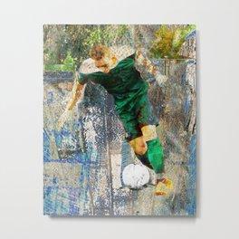 Soccer Player Art Metal Print