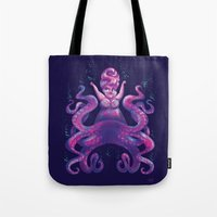 ursula Tote Bags featuring Ursula by Bach