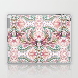 Lily, Leaf & Triangle Pattern – multi-color version Laptop & iPad Skin
