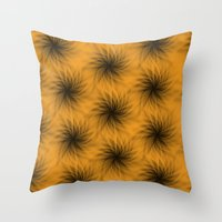 shadow Throw Pillows featuring Shadow by Looly Elzayat