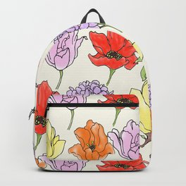 crowded floral Backpack
