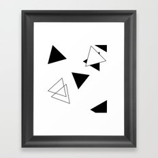 Modern Black Triangles Framed Art Print