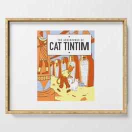 Belgian Comics Cat Tintim Serving Tray
