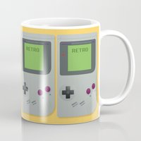 gameboy Mugs featuring Retro Gameboy by Alex Boatman