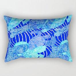 blue sea turtles Rectangular Pillow