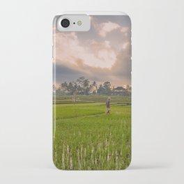 Bali rice field iPhone Case