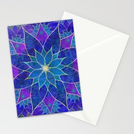 Lotus 2 - blue and purple Stationery Cards