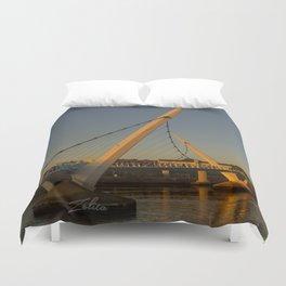 Derry Peace Bridge Duvet Cover