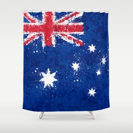 Australia Flag - Messy Action Painting Shower Curtain