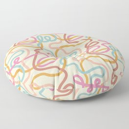 Squiggles - Muted Multi Floor Pillow