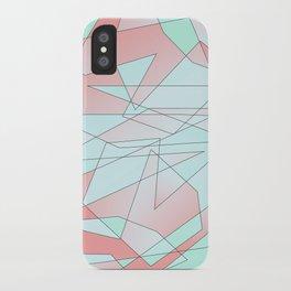 Mint & Coral Geometric iPhone Case