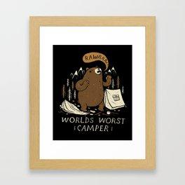 worlds worst camper Framed Art Print