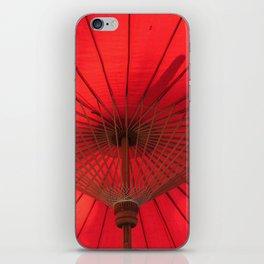 Red Parasol iPhone Skin