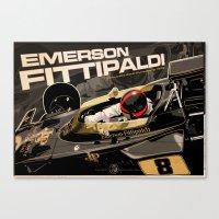 f1 Canvas Prints featuring Emerson Fittipaldi  - F1 1972 by Evan DeCiren