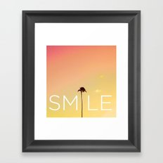 Palm Tree Smile new Hue Framed Art Print