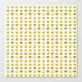 Emoji pattern Canvas Print