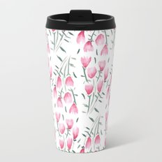 Watercolor pink flowers Travel Mug