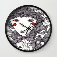 the who Wall Clocks featuring who by Eliza L