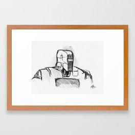Warbot Sketch #014 Framed Art Print