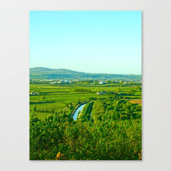 Dungarvan Fields Canvas Print