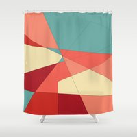 strawberry Shower Curtains featuring Strawberry by DuckyB
