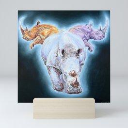 Luna, Triple Rhino Mini Art Print
