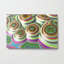 Candylands (3D Digital Fractal Art) Metal Print