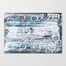 Columbia Blue abstract watercolor Canvas Print
