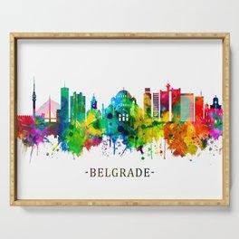 Belgrade Serbia Skyline Serving Tray