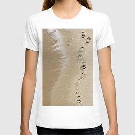 Footprints Along the Shore T-shirt