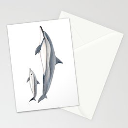 Long-beaked dolphin and baby Stationery Cards