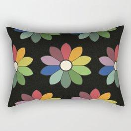 Flower pattern based on James Ward's Chromatic Circle (vintage wash) Rectangular Pillow