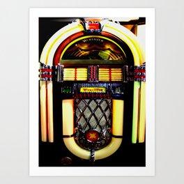 Wurlitzer Jukebox  Art Print