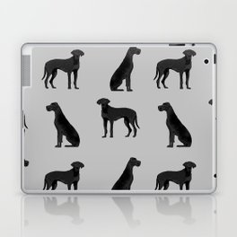 Great Dane black coat valentines day dog breed dog must haves Laptop & iPad Skin