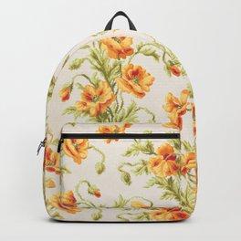 Vintage Orange Poppies Backpack