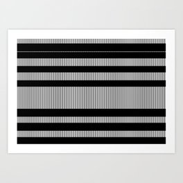 A paralelo a B Art Print