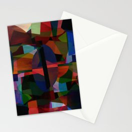 Bright colorful abstract art Stationery Cards