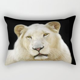 White Lion Rectangular Pillow