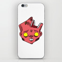 two faced morphed head iPhone Skin