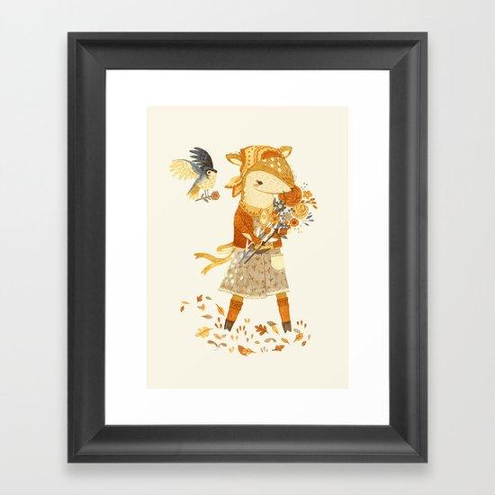 Dakota the Daisy Deer Framed Art Print