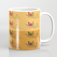 popart Mugs featuring Feathers PopART by UnifiedGlory