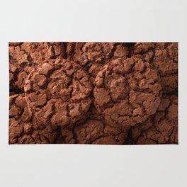 Group of dark chocolate cookies Rug